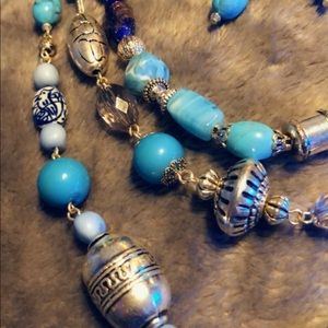 Avon - Turquoise Necklace and Earring Set